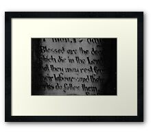 Revelations 14:13 Framed Print