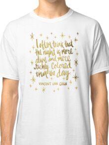 Night Owl – Gold Classic T-Shirt