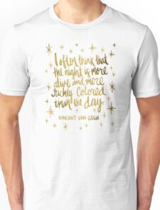 Night Owl – Gold Unisex T-Shirt