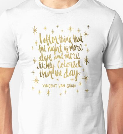 Night Owl – Gold Unisex T-Shirt