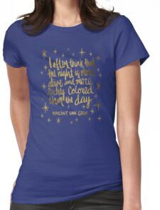 Night Owl – Gold Womens Fitted T-Shirt