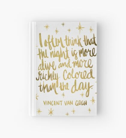 Night Owl – Gold Hardcover Journal