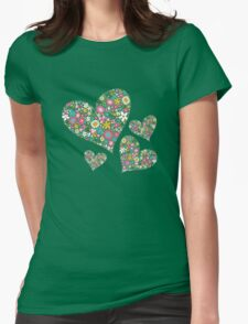 Spring Flowers Valentine Pink Hearts T-Shirt