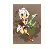 Riven chibi - League of Legends Art Print