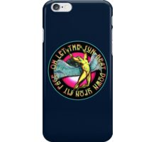 ICARUS THROWS THE HORNS - dark colored kashmir iPhone Case/Skin