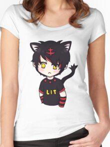litten boy Women's Fitted Scoop T-Shirt