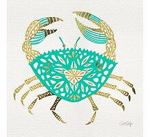 Crab – Turquoise & Gold Photographic Print
