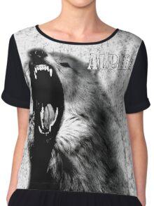 Alpha Wolf Chiffon Top