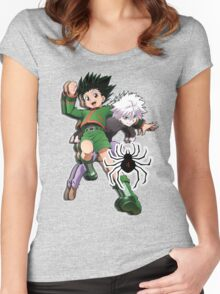 hunter x hunter epic Hunter X Hunter Women's Fitted Scoop T-Shirt