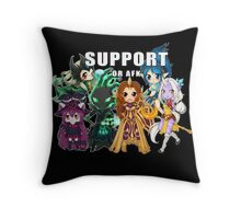 Support or AFK - League of Legends chibi t-shirt Throw Pillow