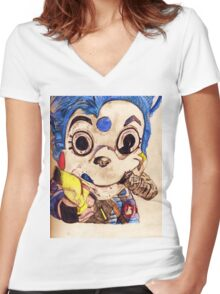 Mousekat  Women's Fitted V-Neck T-Shirt