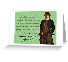 Outlander/Jamie is... Greeting Card