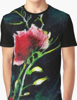 Red Flower New Graphic T-Shirt