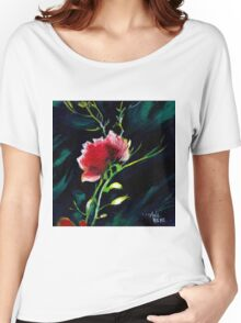 Red Flower New Women's Relaxed Fit T-Shirt