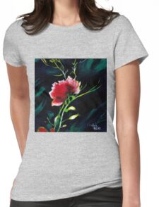 Red Flower New Womens Fitted T-Shirt