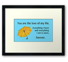 How I Met Your Mother: Yellow Umbrella Framed Print