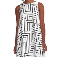 Maze Pattern A-Line Dress