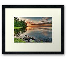 Lake Sunrise. Framed Print