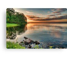 Lake Sunrise. Canvas Print