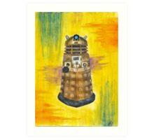Rainbow Dalek  Art Print