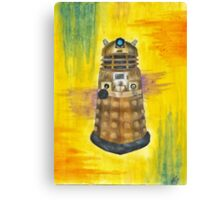Rainbow Dalek  Canvas Print