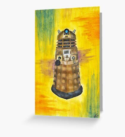 Rainbow Dalek  Greeting Card