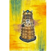 Rainbow Dalek  Photographic Print