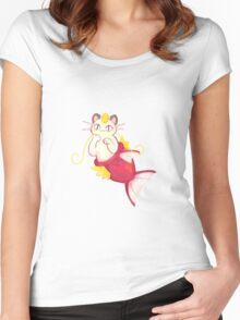 magikarp meowth Women's Fitted Scoop T-Shirt