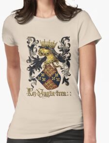 King of England Coat of Arms - Livro do Armeiro-Mor Womens Fitted T-Shirt