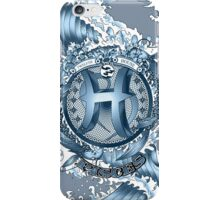PISCES (Aquamarine) Aquatic Zodiac sign iPhone Case/Skin