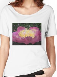 Perfect Peony side view Women's Relaxed Fit T-Shirt