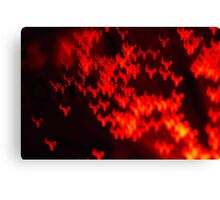 Red neon lights 2 Canvas Print