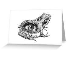 Eye-Back frog Greeting Card