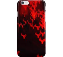 Red neon lights 2 iPhone Case/Skin