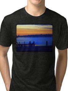 Yoga Sunset Tri-blend T-Shirt