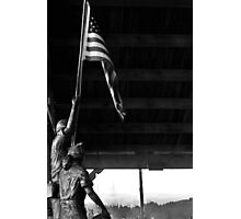 The flag carrier Photographic Print