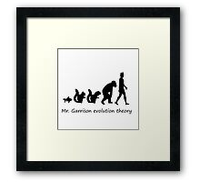 Mr. garrison Evolution Theory Framed Print
