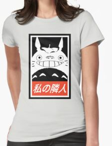 My Neighbor, Totoro! (Obey Parody) Womens Fitted T-Shirt