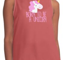 Born To Be A Unicorn Contrast Tank