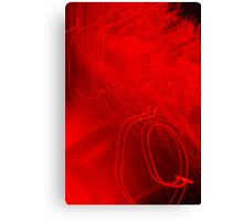 Red neon lights 3 Canvas Print