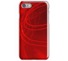 Red neon lights 3 iPhone Case/Skin