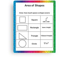 Area of Shapes Rainbow Canvas Print