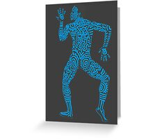 DAB HARING - BLUE Greeting Card