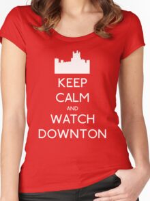 Keep Calm and Watch Downton Women's Fitted Scoop T-Shirt
