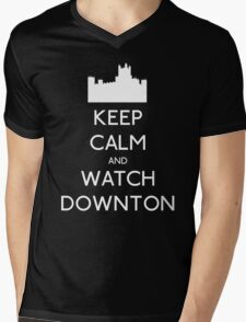 Keep Calm and Watch Downton Mens V-Neck T-Shirt