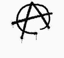 Anarchy symbol, dripping, grungy Unisex T-Shirt