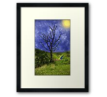 Star-Spangled Tree Framed Print