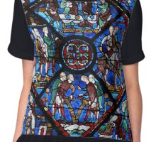 Chartres Cathedral Stained Glass Window Chiffon Top
