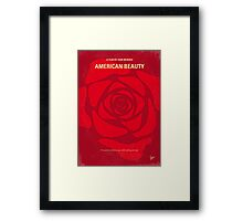 No313 My American Beauty minimal movie poster Framed Print