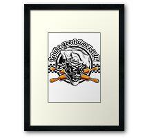 Baker Skull 5: Let the good times roll! Framed Print